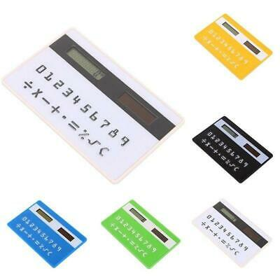 Mini Ultra Slim Credit Card Sized Solar Powered Pocket 8-Digit Calculator MS • 4.54£