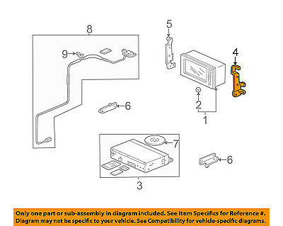$342.37 • Buy HONDA OEM 03-05 Pilot Navigation System-Bracket Right 39111S9VA01