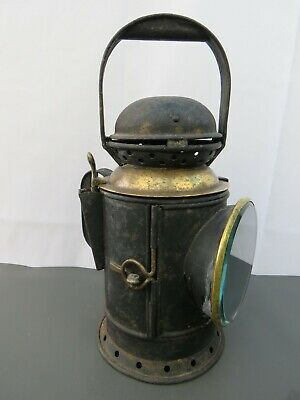 Vintage BR (W) British Rail Tri Colour Signal Railway Lamp Lantern To Restore • 80£