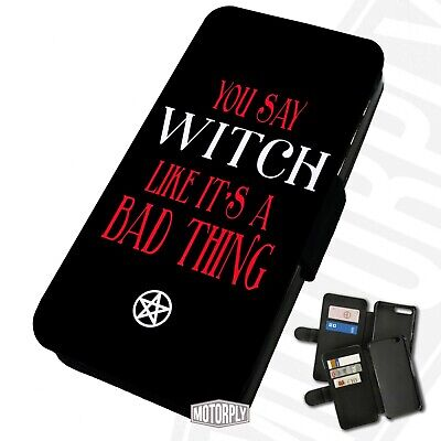 Printed Faux Leather Flip Phone Case For IPhone - Witch-Bad-Thing • 9.75£