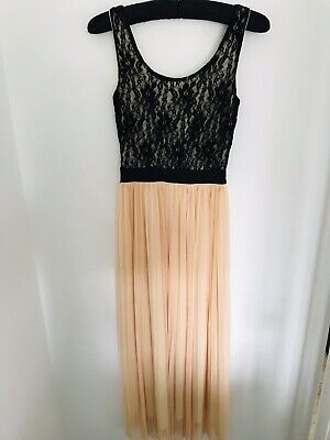 Love *Topshop ASOS Concession* Lace Pleated Maxi Smart Occasion Dress Size S/M • 6.99£