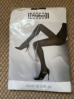 Wolford Velvet De Luxe 66 Tights Black Size L • 18£