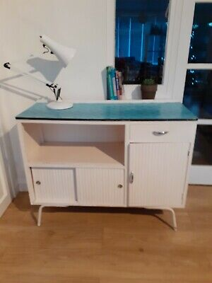 Retro Vintage 1950s/60s Kitchen Cabinet Cupboard, Formica Top, Project • 75£