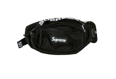$ CDN57.43 • Buy Supreme SS18 Black Waist Bag Fanny Pack Cordura Backpack Money Pouch FW18 Travel