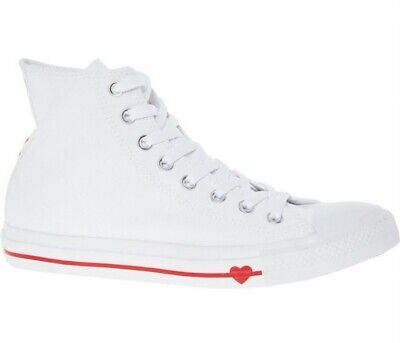 BRAND NEW Converse Chuck Taylor Love & Fear White High Tops Trainers UK 7.5  • 34.99£