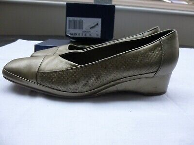 K Pewter Leather Wedge Heel Shoes. 5.5/39 • 2.50£