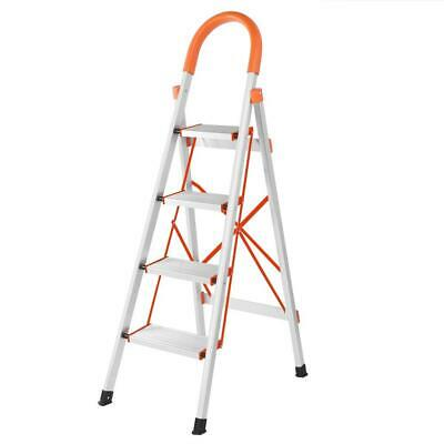 £35.99 • Buy Folding 4 Step Ladder Safety Non Slip Mat Tread Small Stool Ladders Kitchen Home