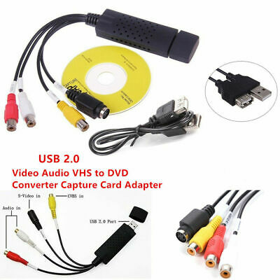 AU15.99 • Buy USB 2.0 VHS To DVD VCR PC HDD Digital Converter Audio Video Capture Card Adapter