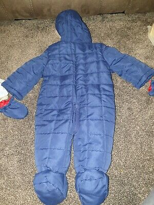 BHS Disney Blue Baby Boys Tigger Pramsuit With Mittens 3-6 Months • 1.10£