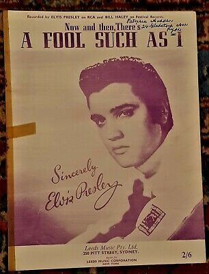 Elvis Presley Song Music Sheet   A Fool Such As I    • 11.31£