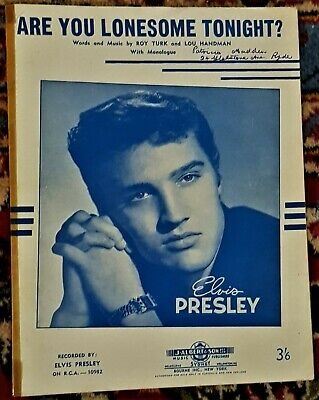 Elvis Presley  Are You Lonesome Tonight  Sheet Music  • 11.31£