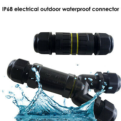£3.49 • Buy 3 Pole Core Joint Outdoor IP68 Waterproof Electrical Cable Wire Connector UK