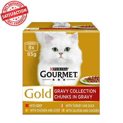 Gourmet Gold Chunks In Gravy Collection Cat Food Tender Chunks - (8 X 85g) • 11.99£