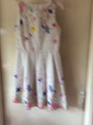 Girls John Rocha White Floral Party Dress Age 11yrs Vg Used Condition(5) • 7.99£