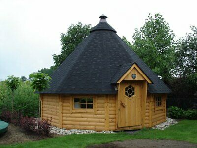 £10430 • Buy BBQ Hut Grill Cabin 25 M² Outdoor, Log Lap, Cabin, Barbecue, Timber, Outdoor