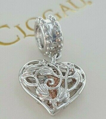 Clogau Gold Sterling Silver 9ct Rose Gold Fairy Heart Love Dangle Bead Charm £69 • 51.95£