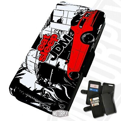 Printed Faux Leather Flip Phone Case For IPhone - Eat-Sleep-JDM • 9.75£