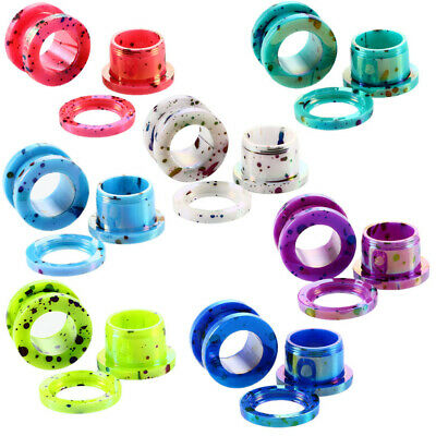 Set Of 16 Ear Tunnel Plugs Stretcher Gauges 8 Sizes Color Choice • 4.71£
