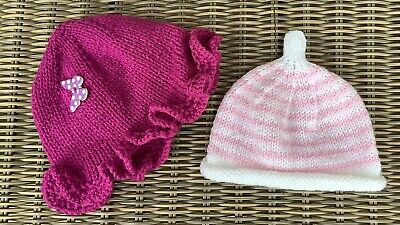 2 New Hand Knitted Hats For A Newborn Baby 👶 👶 • 1.50£
