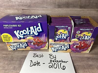 2-Purplesaurus Rex Kool-Aid Drink Mix 48 Packs Each Case Grape *See Date In Pic* • 23.15£