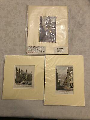 3 Mounted Prints Of Exeter College Oxford • 2£