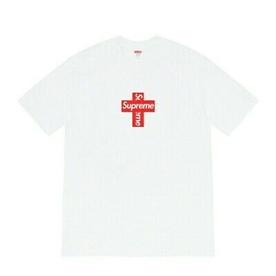 $ CDN180 • Buy Supreme Cross Box Logo Tee T Shirt FW20 New White Size Large