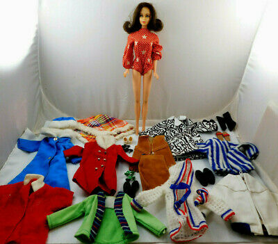$ CDN44.26 • Buy VINTAGE 1960's MATTEL MARLO FLIP BARBIE DOLL WITH CLOTHES SHOES