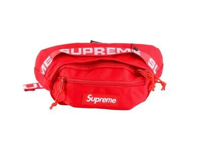 $ CDN56.95 • Buy Supreme SS18 Red Waist Bag Fanny Pack Cordura Backpack Money Pouch FW18 Travel