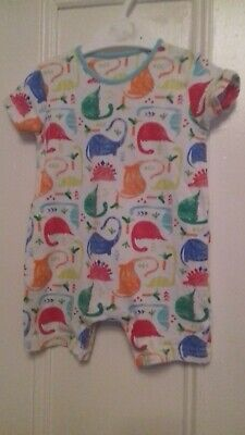 Mothercare Baby Boys Dinosaur Print  Romper Suit / Playsuit - Age 9-12 Months • 2.75£