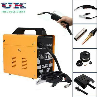 MIG 130 Automatic Feed Spool Wire Torch Welder Welding Machine Kit W/ Mask 230V • 88.95£