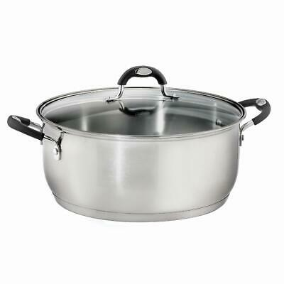 $ CDN65.39 • Buy 9 Quart Dutch Oven Stainless Steel Tri-Ply Base Oven Safe Up To 350 F (176 C)