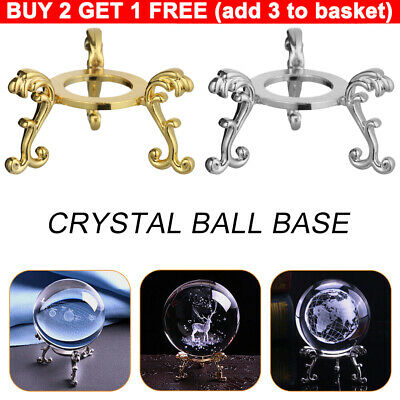 Crystal Ball Base Sphere Stone Support Metal Holder Display Stand Home Decor DIY • 3.55£