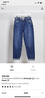 AU10 • Buy Bershka Mom Jean From Asos Size 10