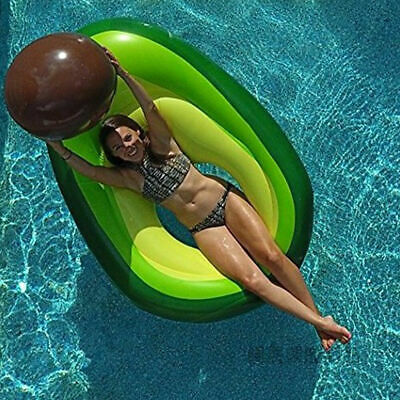 5Feet Giant Avocado Fruit Inflatable Swimming Pool Float Raft Summer Holiday Toy • 8.99£
