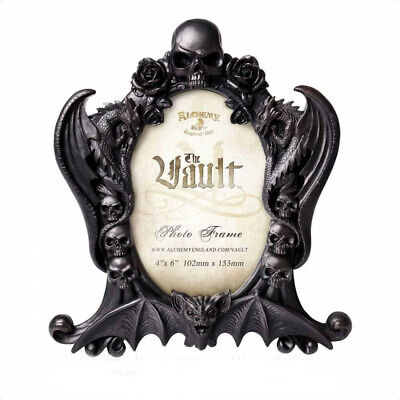 ALCHEMY ENGLAND Gothic Vampire Bat Wall/Standing Picture PHOTO FRAME Nosferatu • 24.85£
