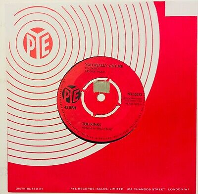 The Kinks First Big Hit From 1964, You Really Got Me, Vinyl 45, Pye Record Label • 2£