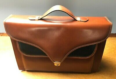 Ladies Leather Briefcase - Brown And Black • 5.90£