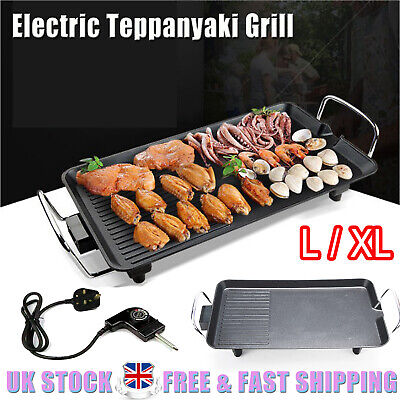Electric Table Top Grill Griddle BBQ  For Fun And Healthy Tabletop Dining L/XL • 25.83£