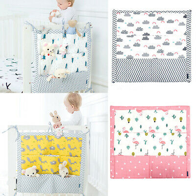 £8.99 • Buy Cot Tidy Baby 100% Cotton Organiser Bed Nursery Hanging Storage 9 Pockets