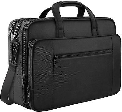 Laptop Bag, 17 Inch Business Briefcase For Men Women Large Waterproof Laptop Bag • 85.75£