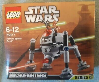 Lego Star Wars Microfighters Series 2 75077 Homing Spider Droid & Battle New • 12£