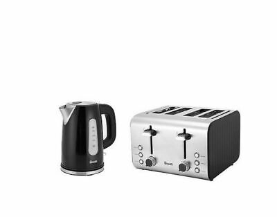 Swan SK13151C Stainless Steel Kettle & ST70130C 4-Slice Toaster Twin Pack  • 46.99£