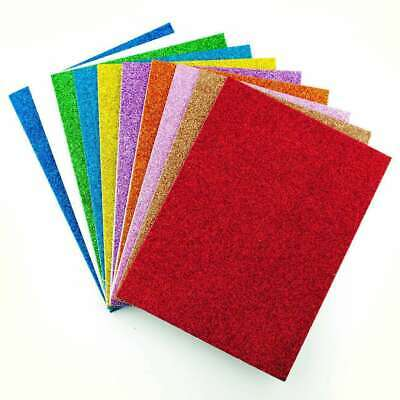 10 Pack A5 Glitter Foam Sheets Kids Art Craft Assorted Colours Self Adhesive • 2.99£