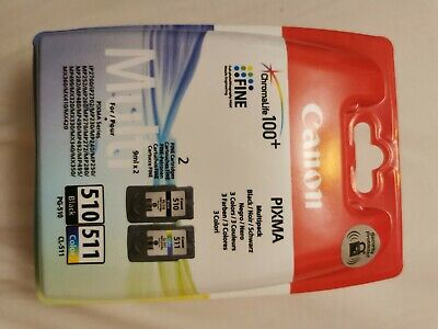 Original Canon PG 510 Black CL 511 Colour Ink Cartridges For Canon Pixma MP495 • 19.50£