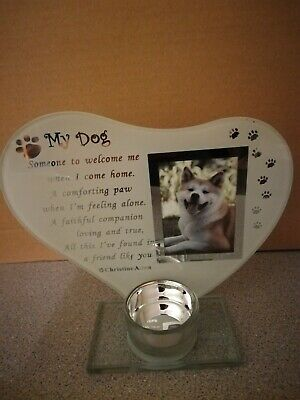 Dog Memorial Plaque With Candle Holder.  • 4.40£