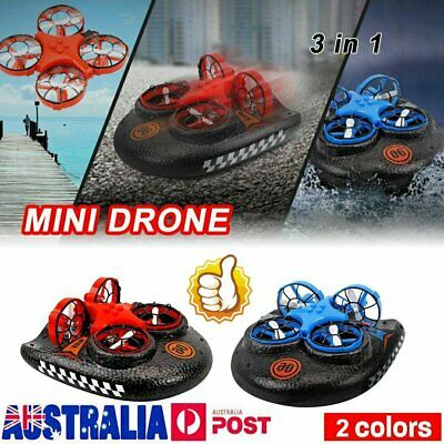 AU38.92 • Buy 3-in-1 Mini Drone For Kids Remote Control Boats For Pools Lakes Sea-Land-Air NW