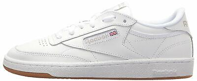 AU55.99 • Buy Reebok Womens Club C 85 Low Top Lace Up Running, White/Light Grey/Gum, Size 9.5