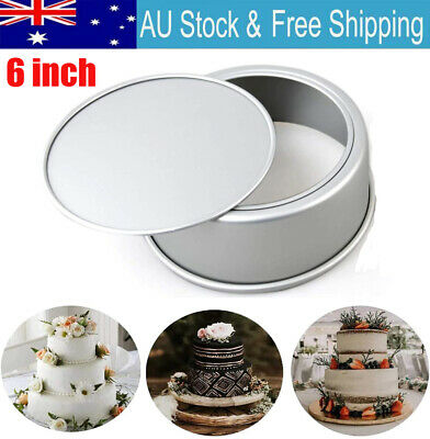 AU12.92 • Buy 4/6 Inch Cake Mold Round DIY Cakes Pastry Mould Baking Tin Pan Reusable QA