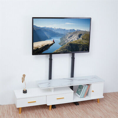 £54.99 • Buy Height Adjustable Mobile Floor TV Stand Home Display For 32 -65  Plasma/LCD/LED