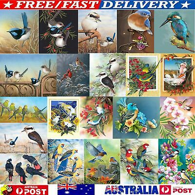 AU12.15 • Buy Bird Animal Full Drill 5D DIY Diamond Painting Cross Stitch Embroidery+Tool QA